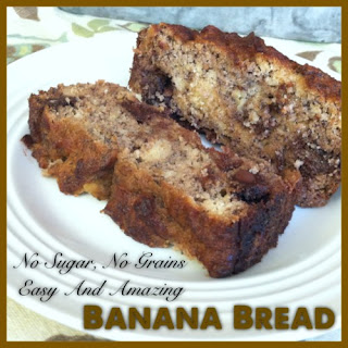 No Added Sugar, No Grains, Easy and Amazing Paleo Banana Bread
