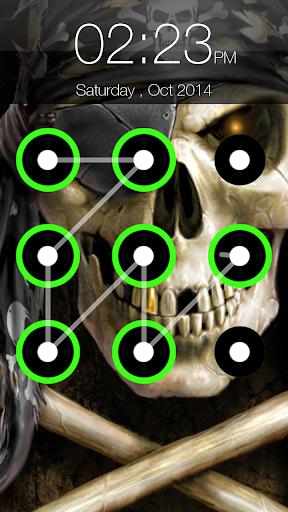 Skull Pattern Lock Screen 6.6 screenshots 6