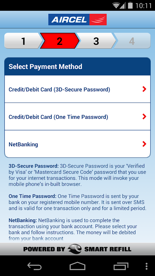 Aircel Pocket Payment- screenshot