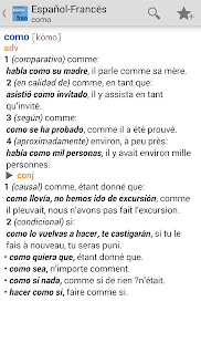 Vox French<>Spanish Dictionary- screenshot thumbnail
