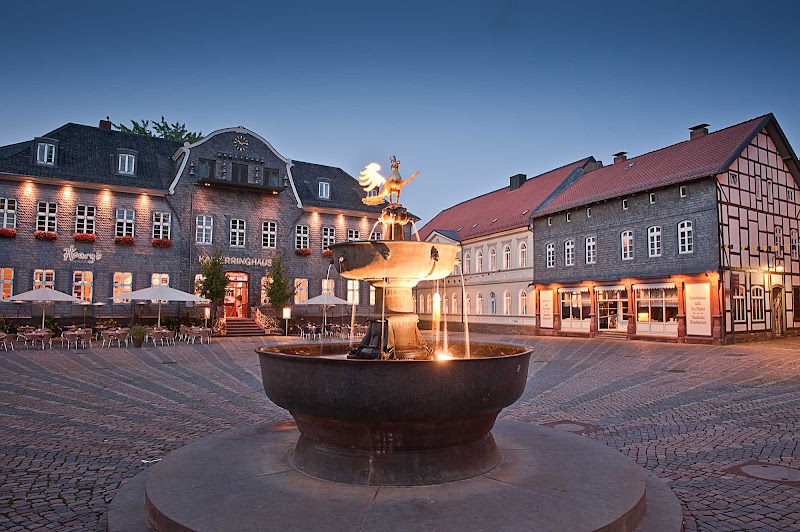 Historic townsquare in Goslar, Germany.