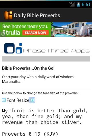 Daily Bible Proverbs