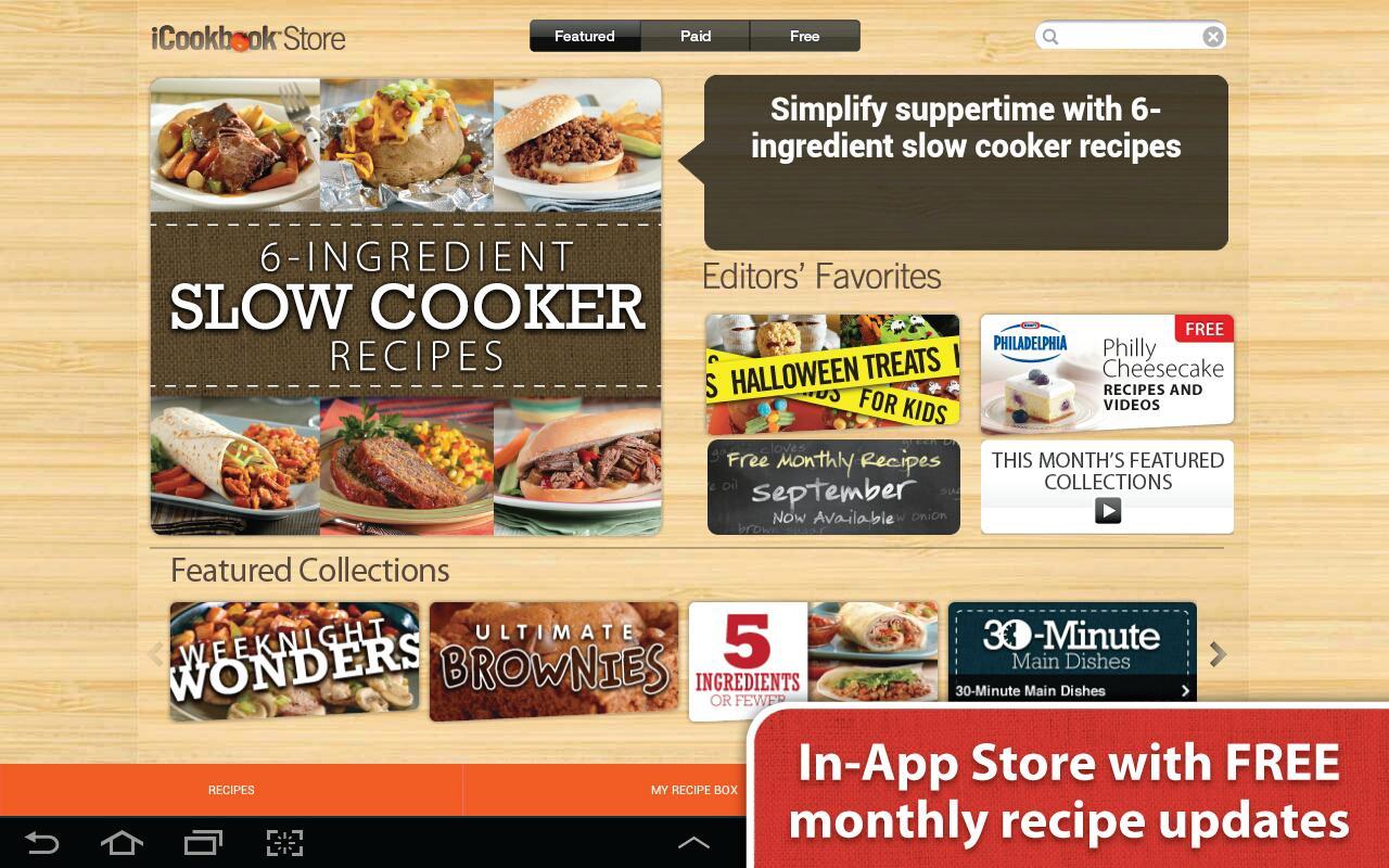 iCookbook - screenshot