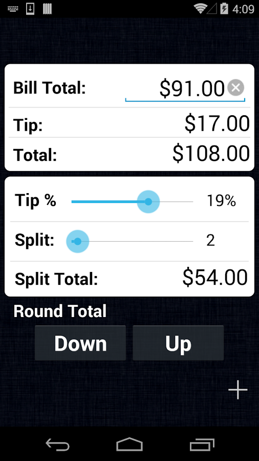 Tip Calculator - screenshot