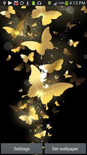 Golden Butterfly LiveWallpaper screenshot