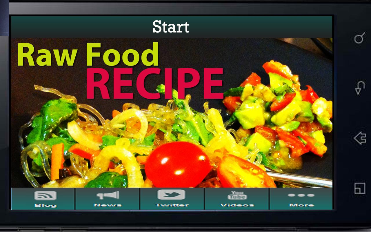 Raw Food Recipes- screenshot
