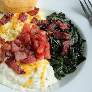 Perfect Grits and Greens Breakfast Bowl.
