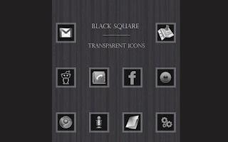Screenshot of Black Square Transparent Icons