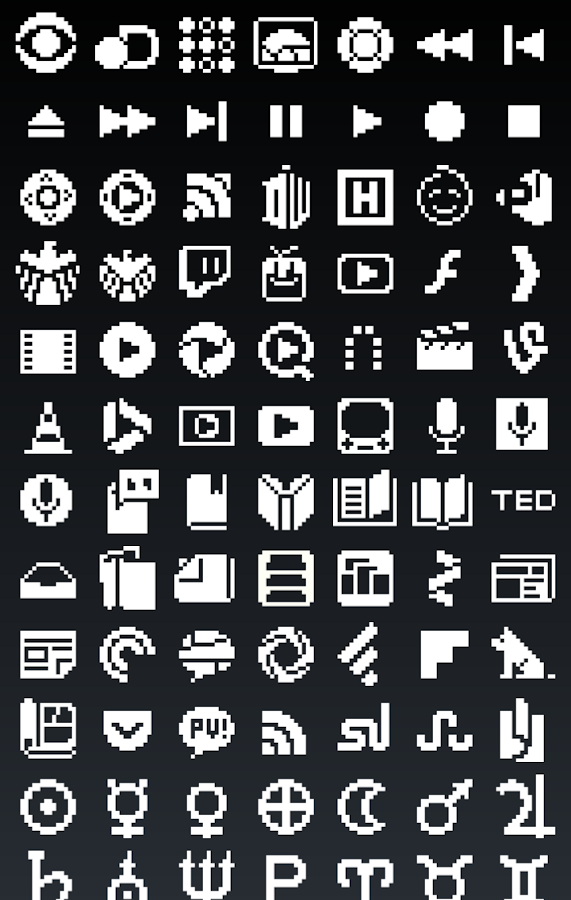 1-BIT Icon Theme- screenshot