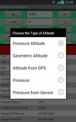 Aerospace Calculator - OLD - screenshot