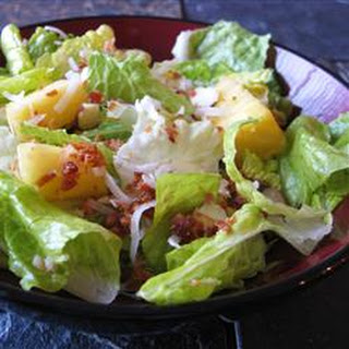 Tropical Salad with Pineapple Vinaigrette.