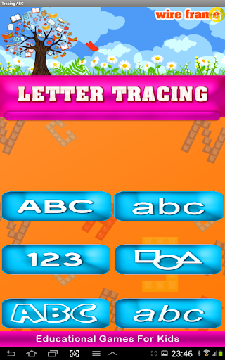 Tracing letter for kids