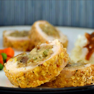 Stuffed Chicken with Apple-Sausage Stuffing