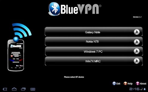 BlueVPN [DUN client] <ICS- screenshot thumbnail