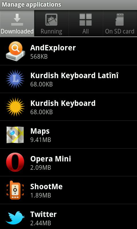 Kurdish Latin Keyboard - screenshot