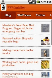 WWF-Canada News - screenshot thumbnail