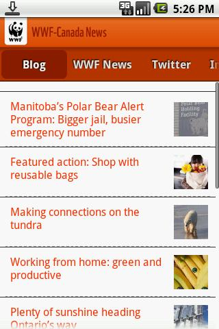WWF-Canada News - screenshot