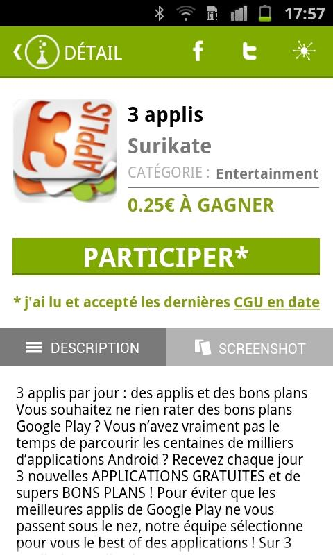 Appli Privée - screenshot