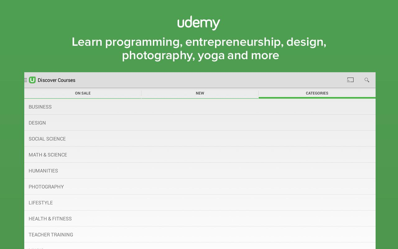 Udemy: Courses and Tutorials - screenshot