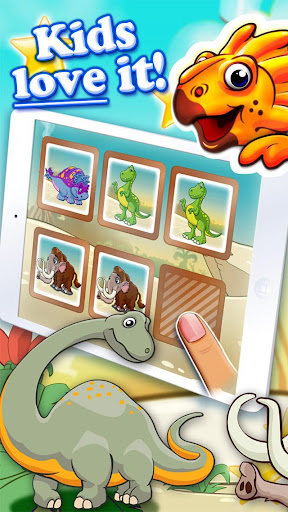 Dinosaur walking with fun memo