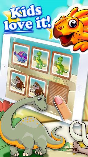 Dinosaur walking with fun memo