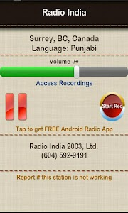 Radio India Surrey BC screenshot 1