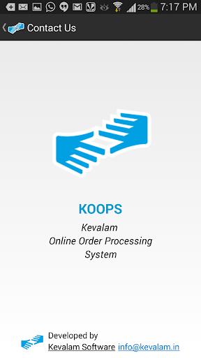 Koops Demo Sales