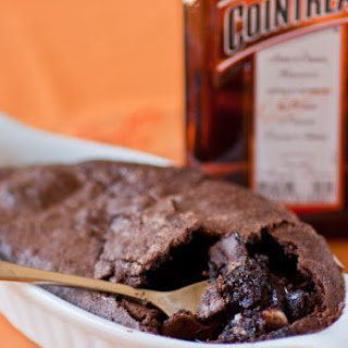Cointreau Brownie Pudding