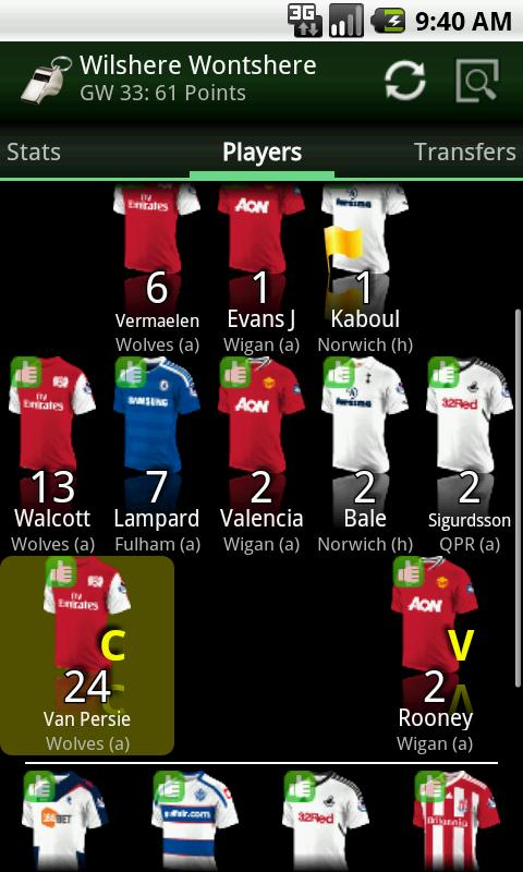 Differential FPL 2015/16- screenshot