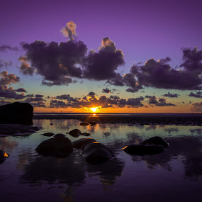 beach sunset by Gareth Fleming - Landscapes Sunsets & Sunrises ( clouds, sunset, beach, lakedistrict )
