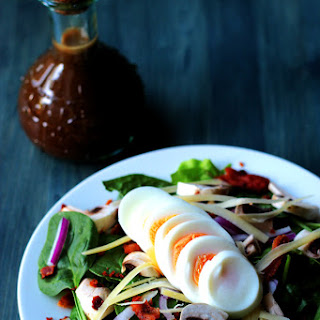 Spinach Salad with Maple Balsamic Vinaigrette.