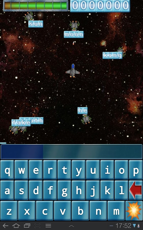 Qwerty Space Wars- screenshot
