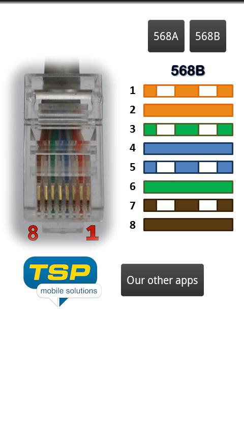 ethernet rj45 wiring pinout and colors android apps on play