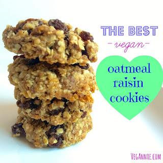 The Best Vegan Oatmeal Raisin Cookies.