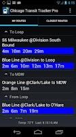 Screenshot of Chicago Transit Tracker Pro