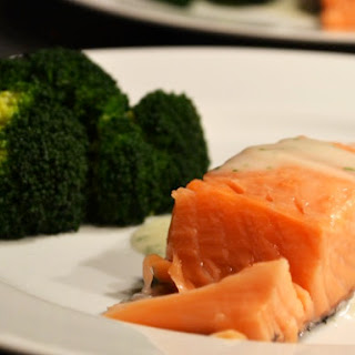 Salmon with Broccoli & Parsley Sauce