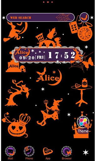 Alice in Halloween Land Theme 1.1 Windows u7528 1