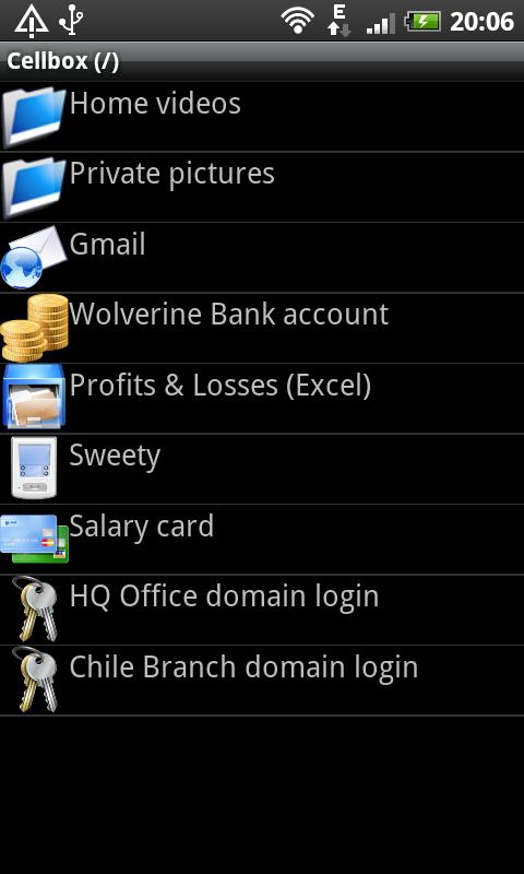 CellBox Lite Password Manager - screenshot