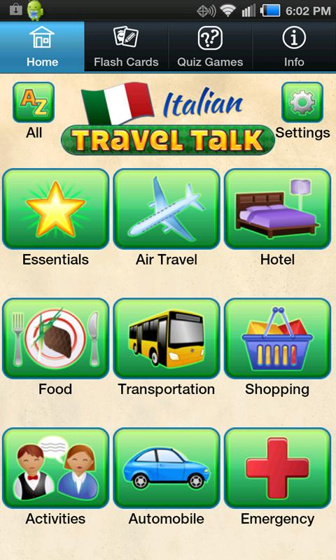 Italian Travel Talk- screenshot
