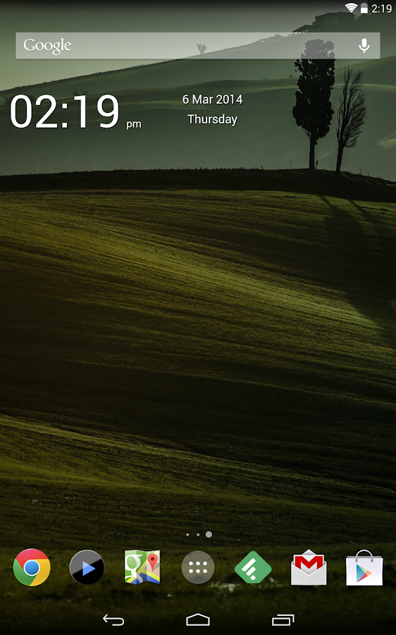Simple Time Widget - screenshot