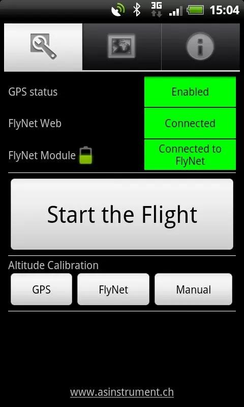Android FlyNet - screenshot