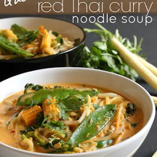 Quick red Thai curry noodle soup.