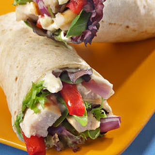 Chicken 'N Veggie Wraps Recipe