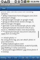 Screenshot of WikiMind note