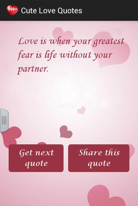 Cute Love Quotes - screenshot