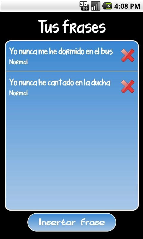Yo Nunca - screenshot