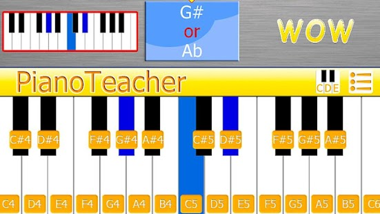 PianoTeacher Free learn chords - screenshot thumbnail