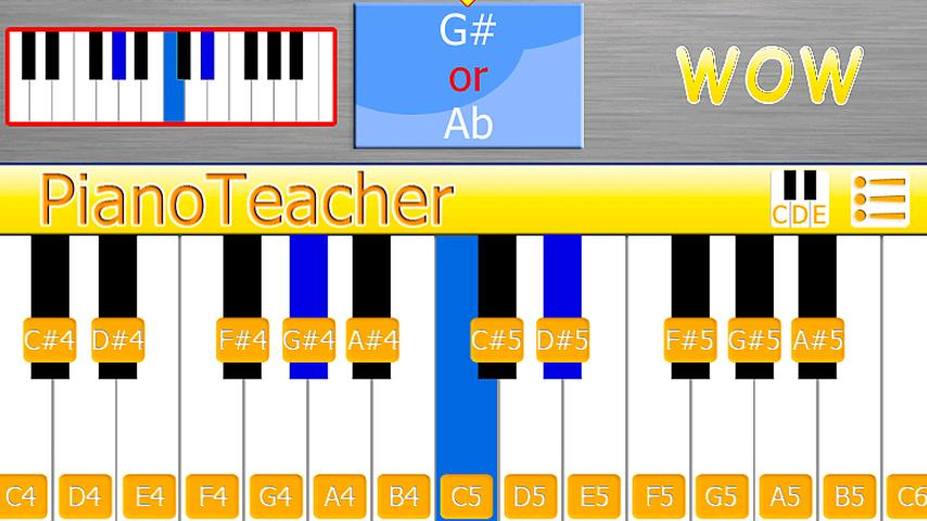 PianoTeacher Free learn chords - screenshot