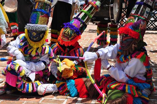 Gombey dancers in Par-la-Ville Park, Hamilton, Bermuda.