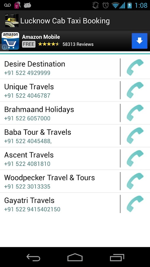 Lucknow Cab Taxi Booking - screenshot
